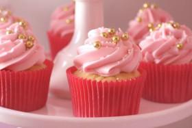 Gold Pearl Cupcake