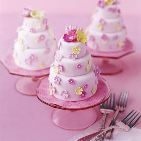 Mini Pink Cake Favors