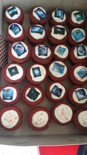 Space Themed Red Velvet Cupcake