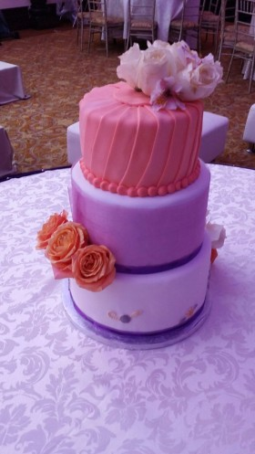 Peach and Purple Cake