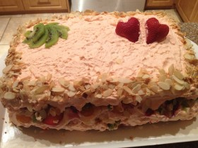 Mixed Fruit Rectangle Cake for an Engagement