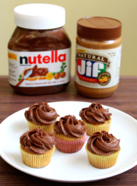 Peanut Butter and Nutella Cupcake