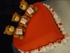 1, 2, 3 Heart Cake