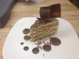 Espresso Cake Plated