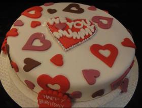 We <3 You Mummy Cake