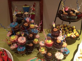Funky Cupcake Dessert Table
