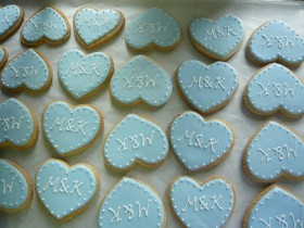 Heart Shaped Shortbread cookie for Wedding Favor