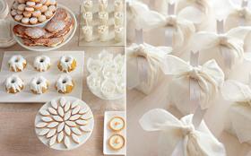 White Bridal Shower Dessert Table