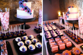 Purple Pink Dessert Table