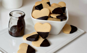Shortbread Cookie Dipped in Dark Chocolate