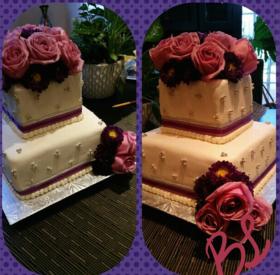Violet Engagement Cake