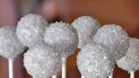 Silver Sugar Sprinkled Cake pops