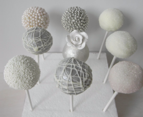 Silver and White Themed Cake pops