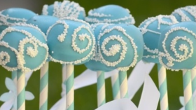 Winter Wonderland Themed Cake pop