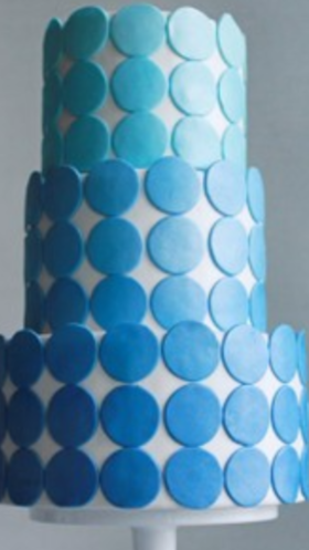 Ombre Blue Cake