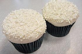 White Sprinkle Cupcakes