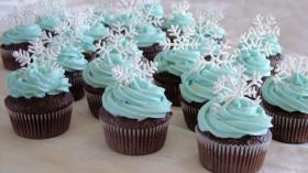 Snowflake  Blue Cupcake