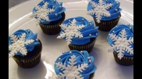 Winter Wonderland Themed Cupcakes