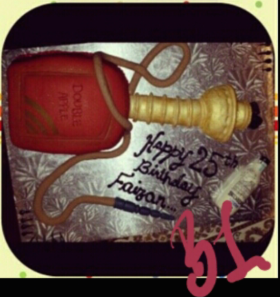 Birthday Shisha Cake