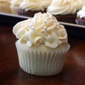 Bridal Shower White Chocolate Cupcake