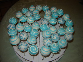 Light Blue Cake pops