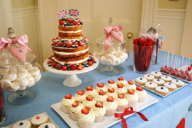 England Themed Dessert Table