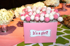 Baby Shower Pink Cake pops