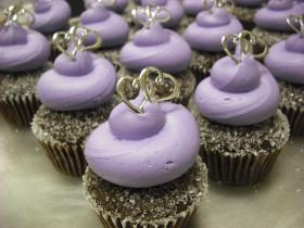 Purple Wedding Cupcake