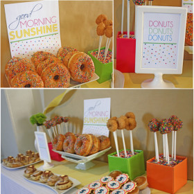 Doughnut Themed Dessert Table
