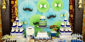 Mustache Themed Dessert Table