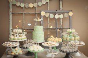 Light Green Dessert Table
