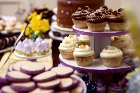 Purple Themed Dessert Table