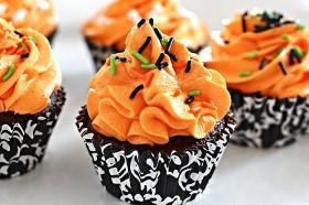 Orange Buttercream Cupcakes