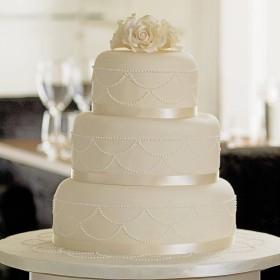 Ivory and White Cake