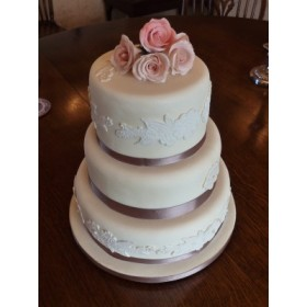 Grey Engagement Cake