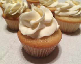 White Chocolate icing Vanilla Cupcake