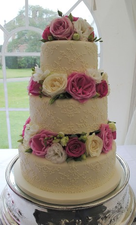 Ivory Pink Cake