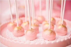 Light Pink and Gold Cupcakes