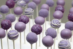 Purple Bridal Shower Cake pops