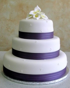 Dark Purple Calla Lily Cake