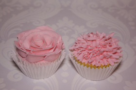 Baby Shower Pink Flower Cupcakes