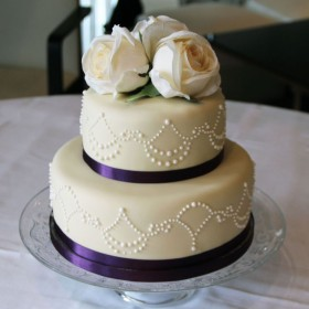 Two tier Purple Cake