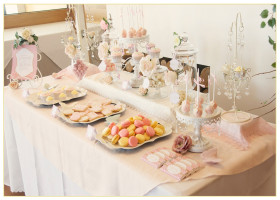Baby Shower Light Pink Dessert Table